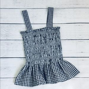 Urban Outfitters Gingham Peplum Top M